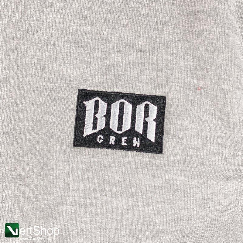 sekcja specjalna eleganckie buty dostępność w Wielkiej Brytanii B.O.R • Bluza rozpinana z kapturem New BORCREW (szara/czarna)