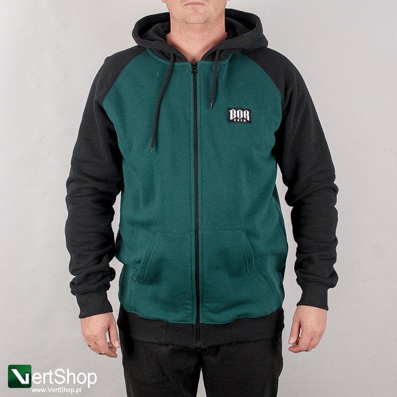 specjalne do butów cała kolekcja niesamowity wybór B.O.R • Bluza rozpinana z kapturem New BORCREW (zielona/czarna)
