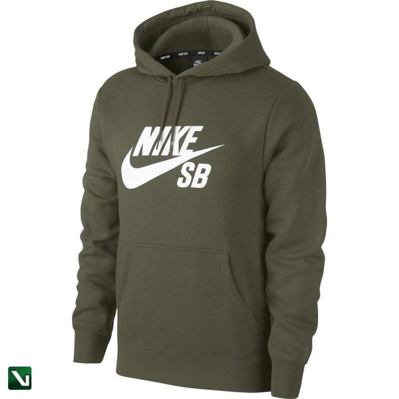 bluza nike sb icon hoodie po essential Medium Olivewhite