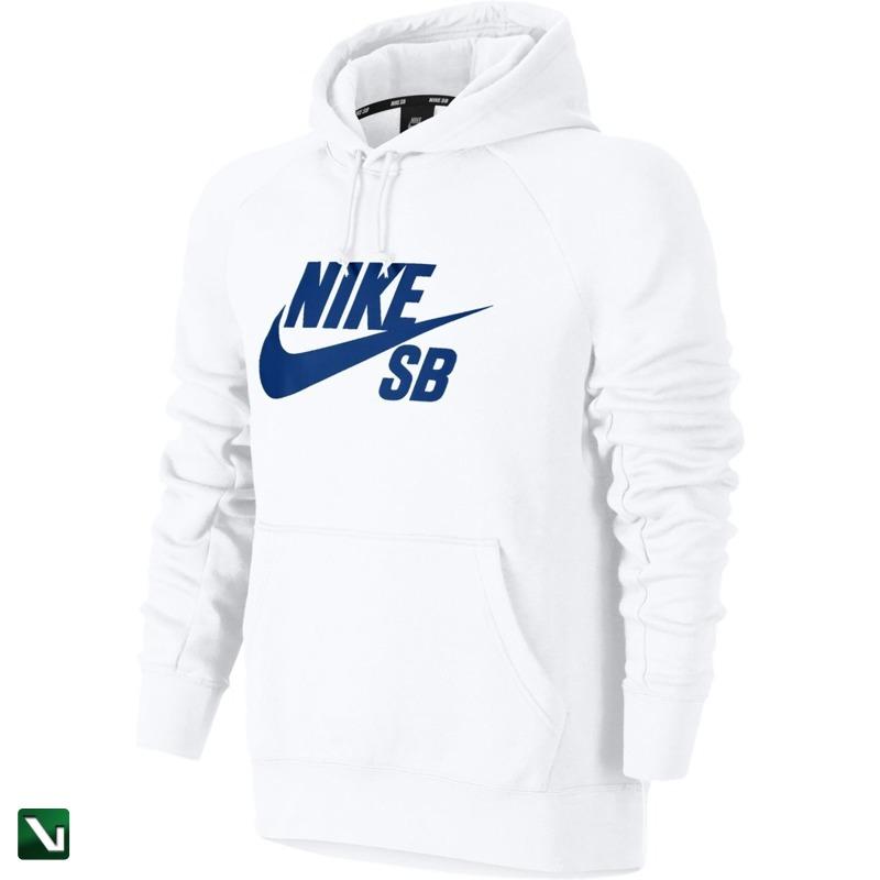 bluza nike sb icon hoodie whitehyper royal
