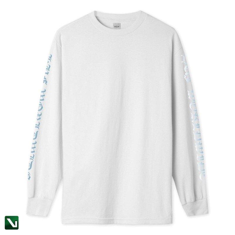 styl mody innowacyjny design urok kosztów huf BONDAGE LONG SLEEVE T-SHIRT white