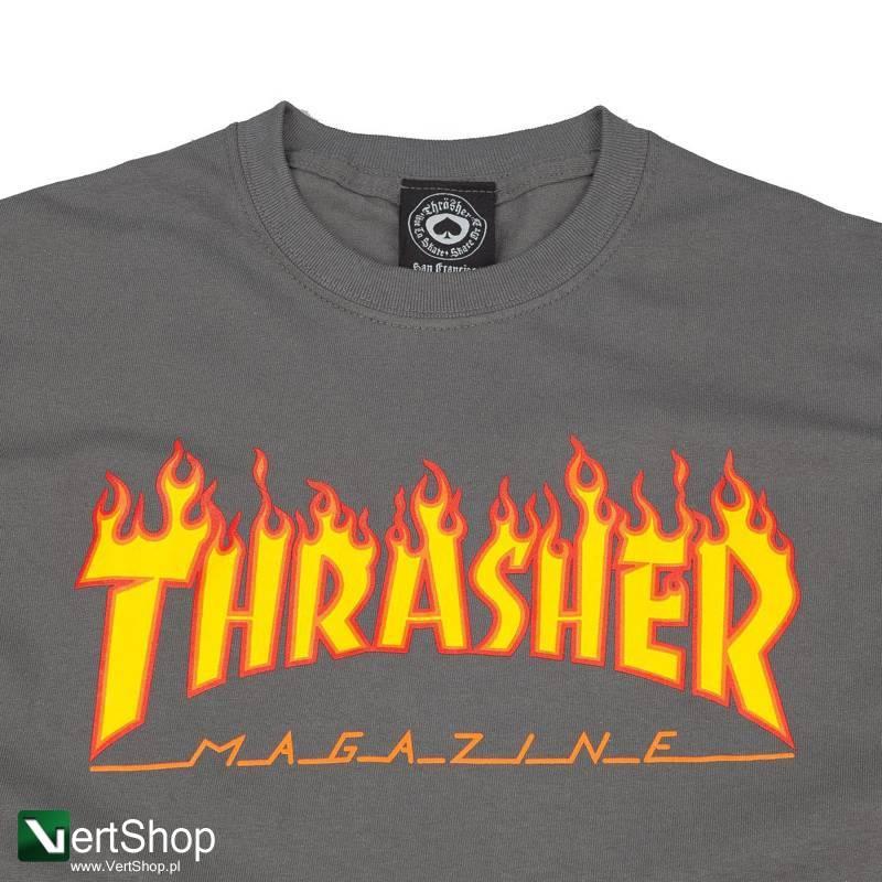 93b56eb1e Vertshop.pl • koszulka thrasher flame logo grey