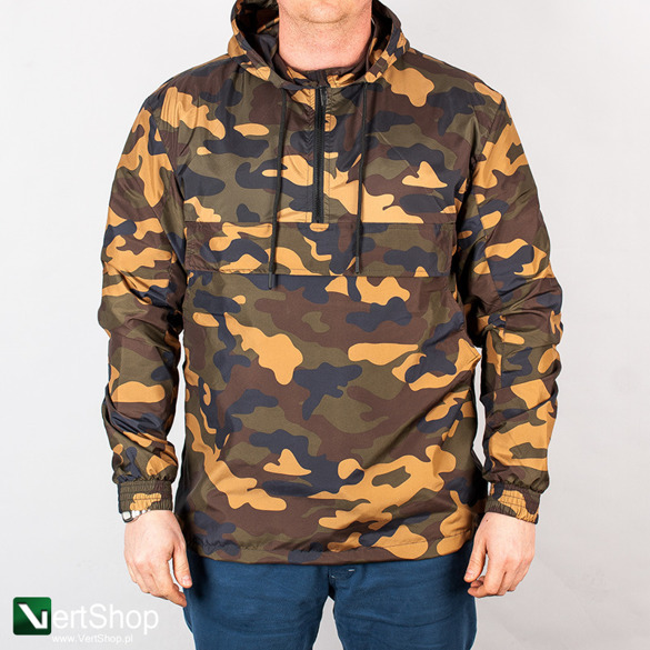 URBAN CLASSICS • Kurtka Pull Over Windbreaker TB1623 (woodland camo)