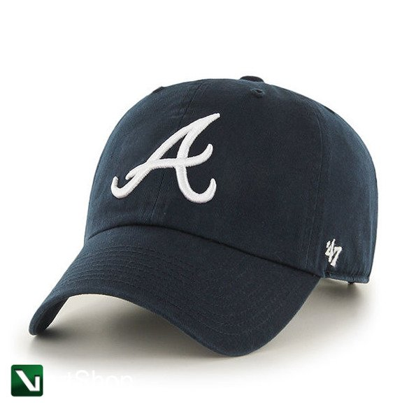 47 BRAND • Czapka Atlanta Braves Clean Up (ciemny granat)