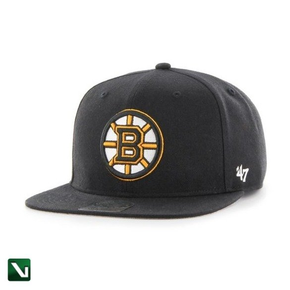 47 BRAND • Czapka Boston Bruins Captain (czarna)