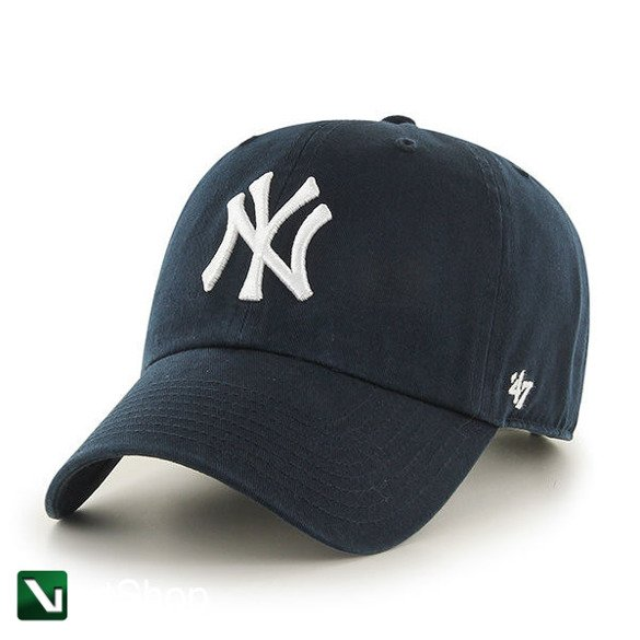 47 BRAND • Czapka NY Yankees Clean Up (granatowa home)