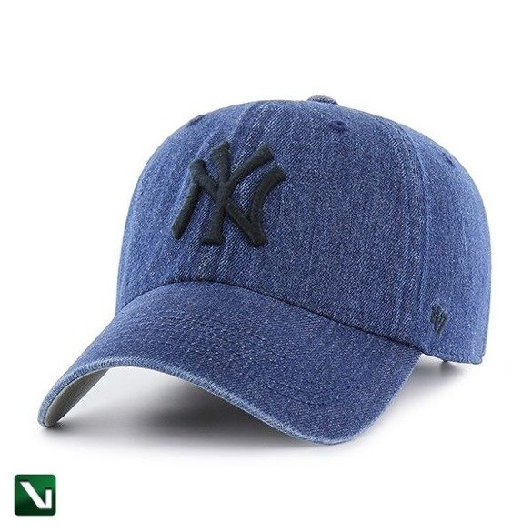 47 BRAND • Czapka NY Yankees Clean Up (jeans)
