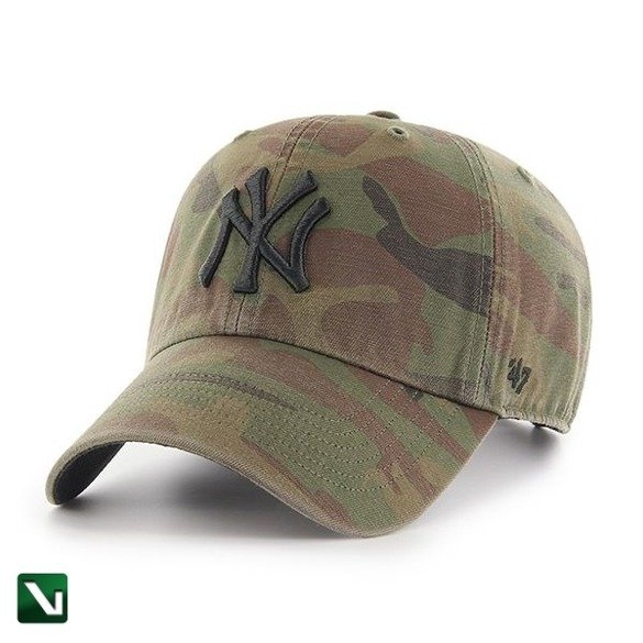 47 BRAND • Czapka NY Yankees Clean Up (woodland)