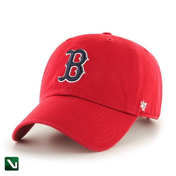 47 BRAND • Czapka Red Sox Clean Up (czerwona)