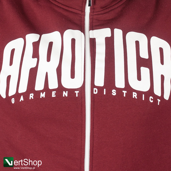 AFROTICA WEAR • Bluza rozpinana z kapturem District (bordowa)