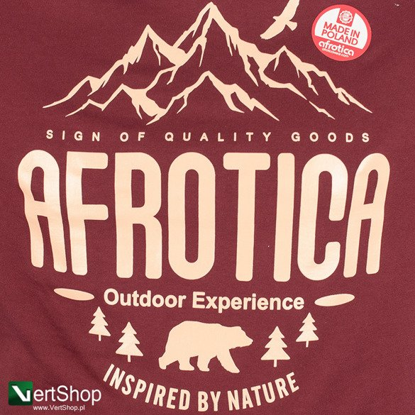 AFROTICA WEAR • Koszulka Mountain (bordowa)
