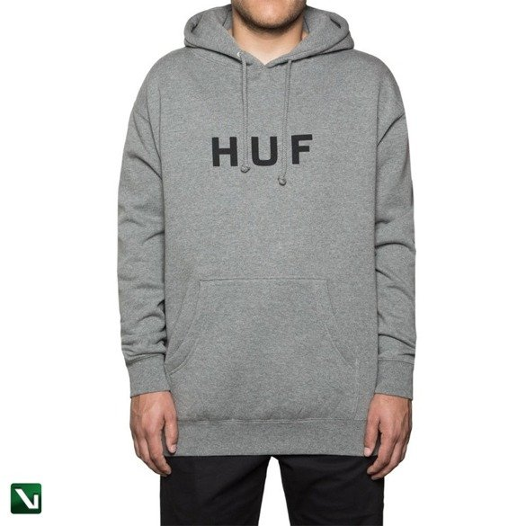 Bluza Huf Sweatshirt Original Logo Fleece grey