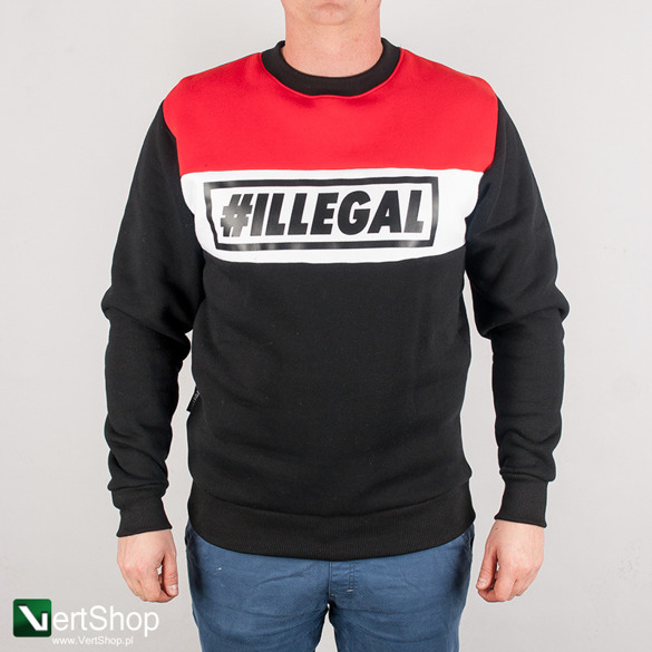 ILLEGAL • Bluza Red (czarna)