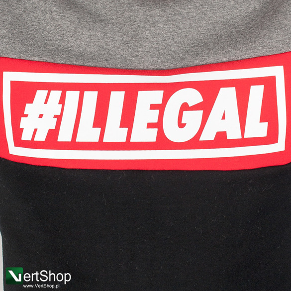 ILLEGAL • Bluza Red (szara)