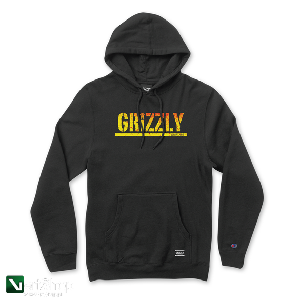 bluza Grizzly Champion Stamp Fadeaway Hoodie Black