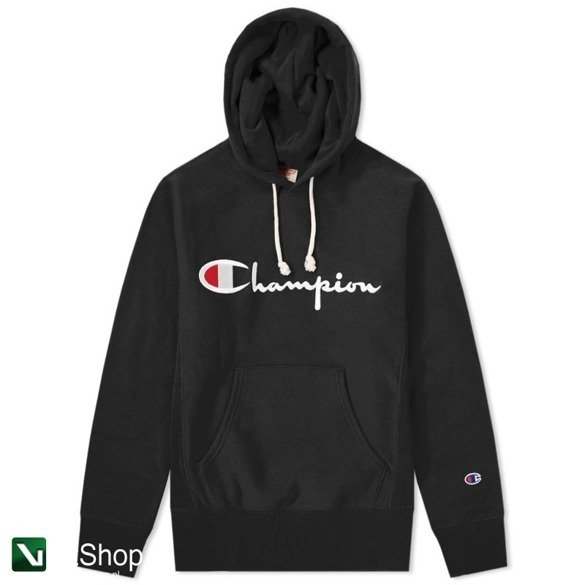 bluza champion hooded sweatshirt reverse weave black