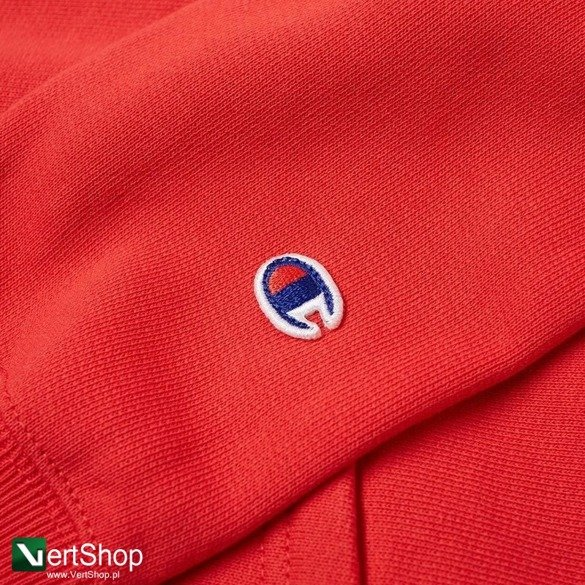 bluza champion hooded sweatshirt reverse weave red