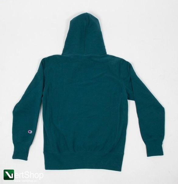 bluza champion small script logo hoodie teal