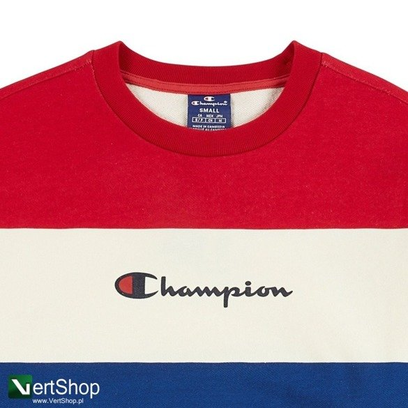 bluza champion stripped logo crewneck