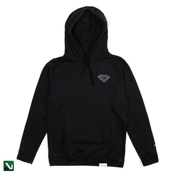 bluza diamond brilliant hoodie black
