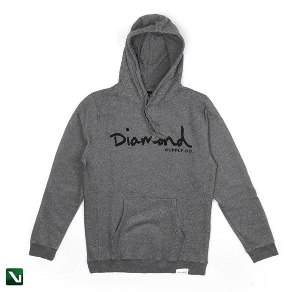 bluza diamond og script hoodie gunmetal heather