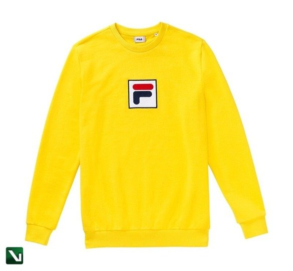 bluza fila rian crew sweat yellow