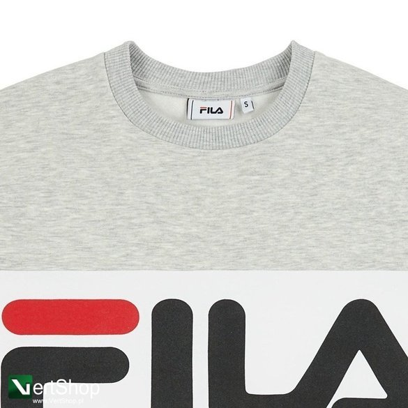 bluza fila straight blocked crewneck grey