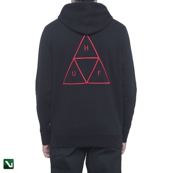 bluza huf TRIPLE TRIANGLE OVER-DYE PULLOVER HOODIE