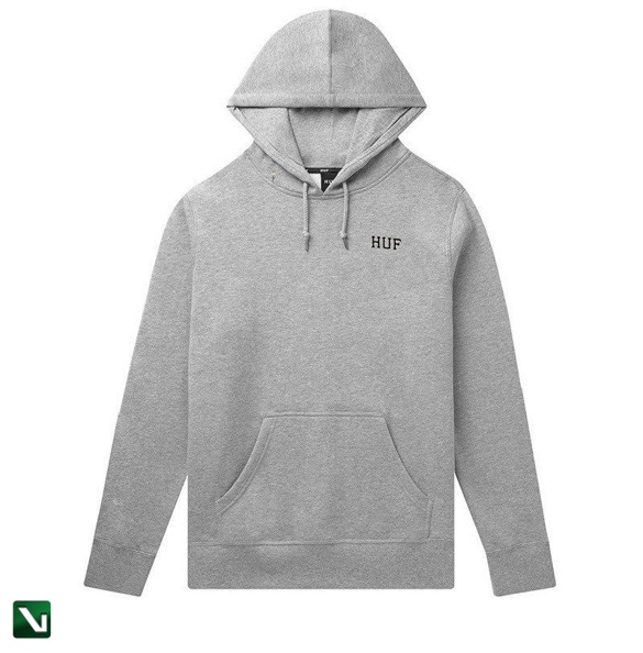 bluza huf dystopia hoodie classic H grey heather
