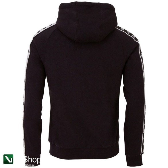 bluza kappa ernie hooded sweatshirt black