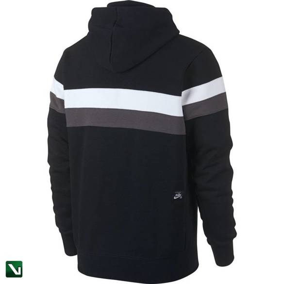 bluza nike sb iHoodie Icon Stripes Black/white/thunder Grey/thunder Grey