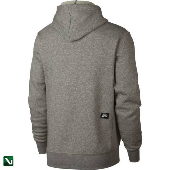 bluza nike sb icon hoodie po essential Dk Grey Heather/black