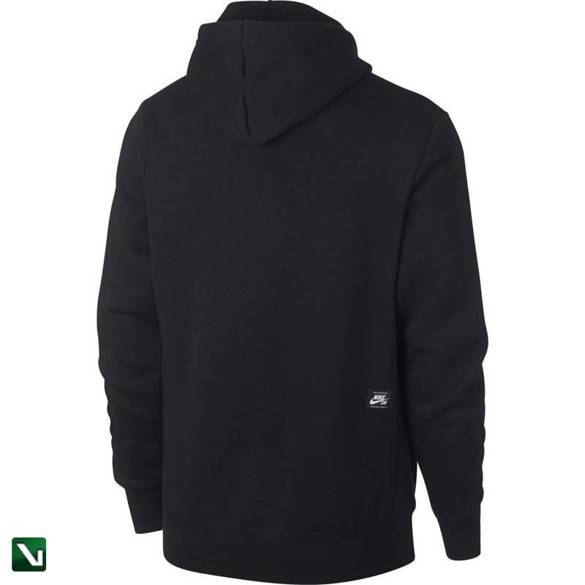 bluza nike sb icon hoodie po essential  black/white