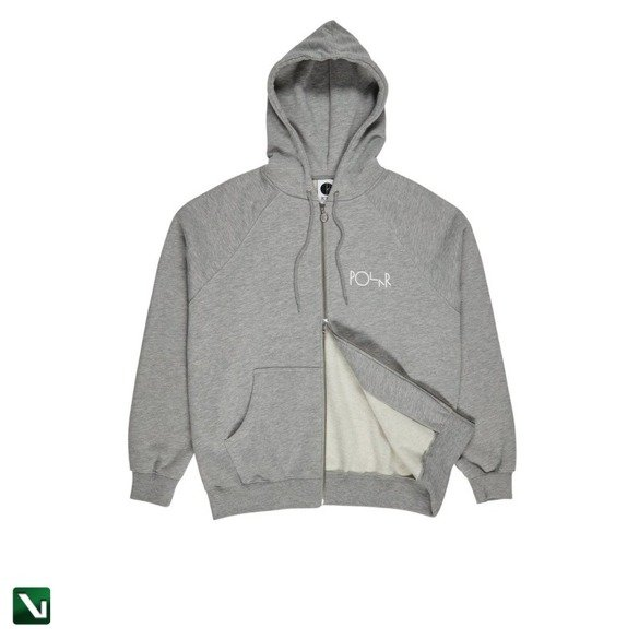bluza polar stroke logo zip hoodie heather grey