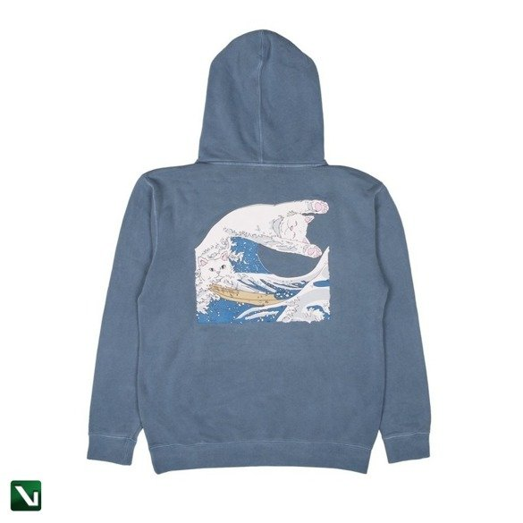bluza ripndip great wave of nerm pullover hood baby blue