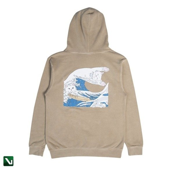 bluza ripndip great wave of nerm pullover hood tan