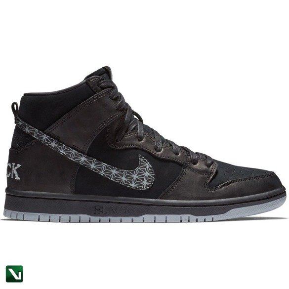 buty Nike Sb Zoom Dunk High Pro Qs Black/black-wolf Grey