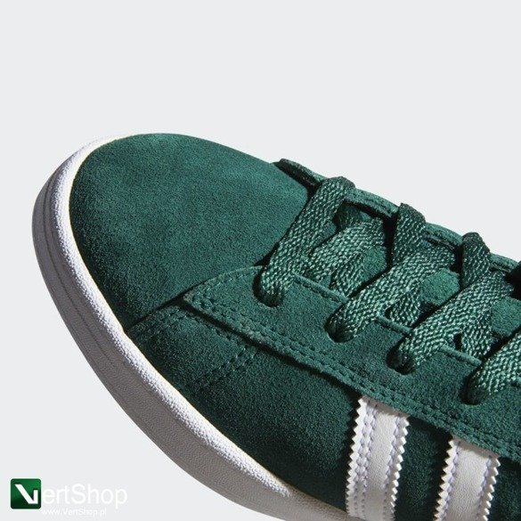 buty adidas campus ADV COLLEGIATE GREEN / CLOUD WHITE / GOLD METALLIC