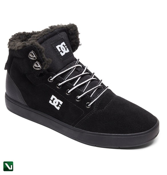 buty dc shoes crisis high wnt black/white