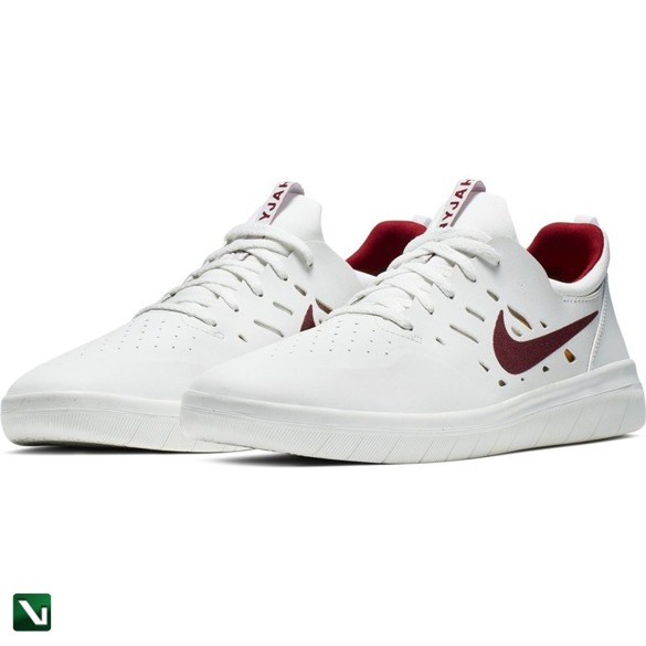buty nike sb nyjah free Summit White/team Crimson