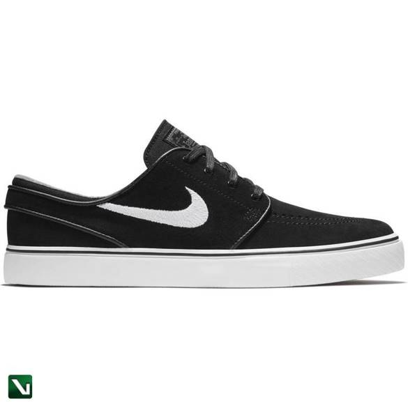 buty nike zoom stefan janoski black/white-thunder grey-gum light brown