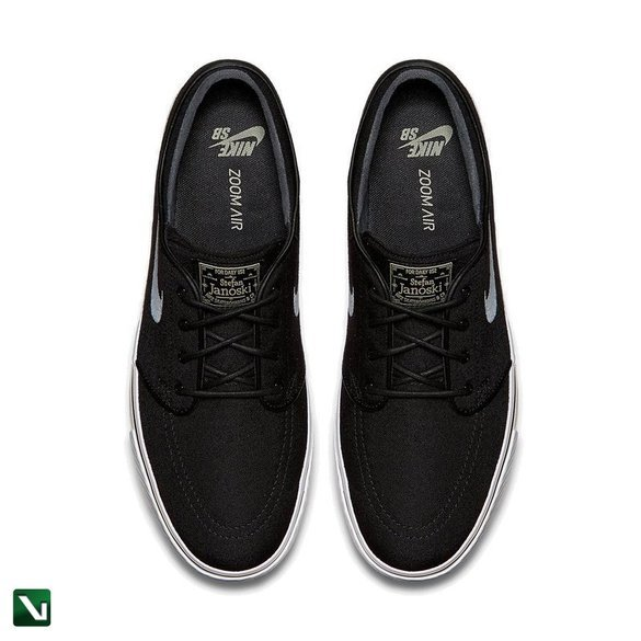 buty nike zoom stefan janoski sb canvas black/white