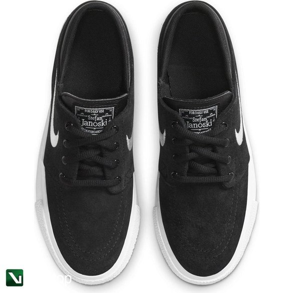 buty stefan janoski (gs)  black/white-gum med brown
