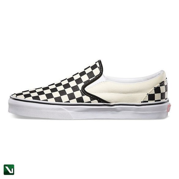 buty vans classic slip on black/white chckr