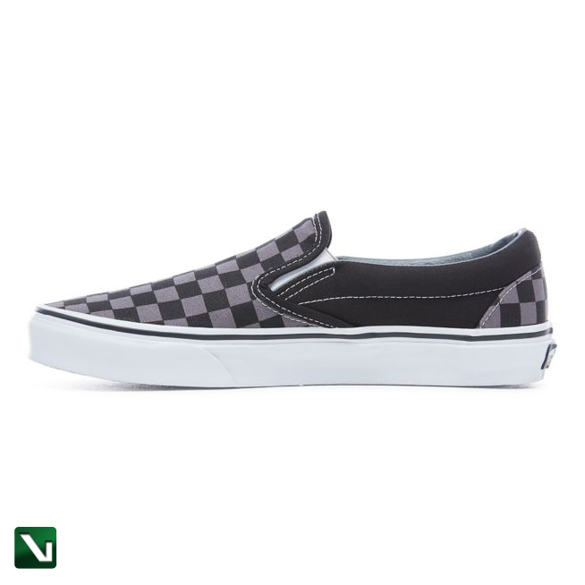 buty vans slip-on black/pewter checkerboard