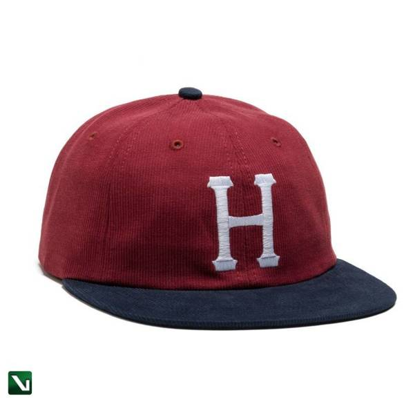 czapka huf classic h 6 panel bedford cord