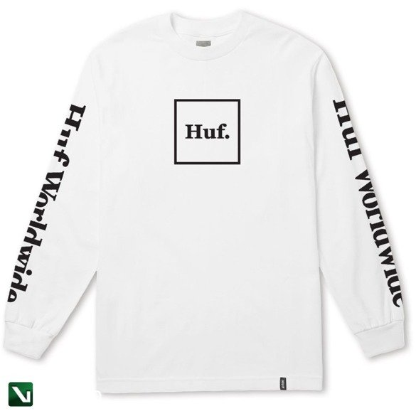 huf DOMESTIC L/S TEE white