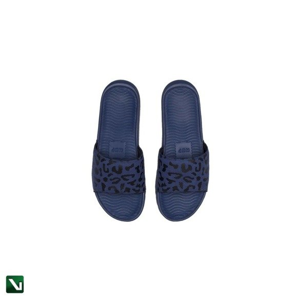 klapki huf shoes slides blue leopard