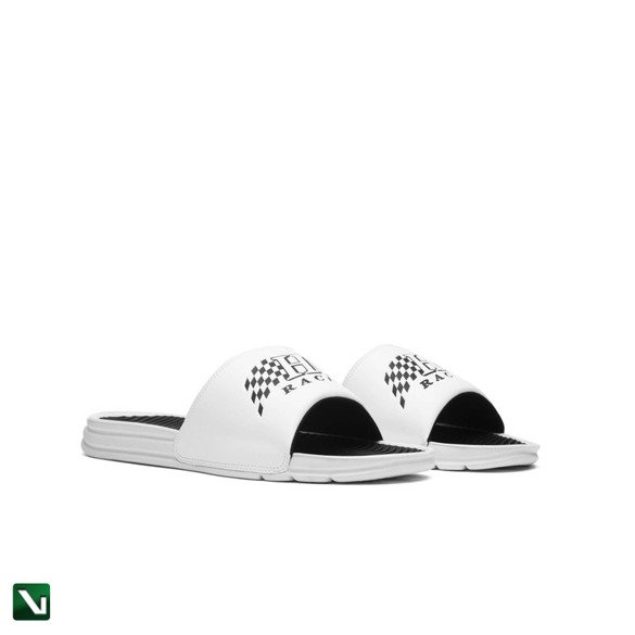 klapki huf shoes slides white
