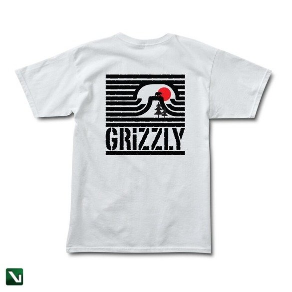 koszulka grizzly long daze s/s tee white
